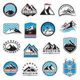 Iconos de la montaña fijados Fotografía de archivo libre de regalías