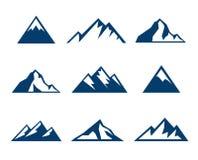 Iconos de la montaña - símbolos Imagen de archivo