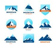 Iconos de la montaña - símbolos Imagen de archivo libre de regalías