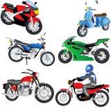Iconos de la motocicleta ilustración del vector