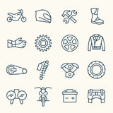 Iconos de la motocicleta Fotografía de archivo libre de regalías