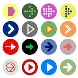 Iconos de la muestra de la flecha Imágenes de archivo libres de regalías