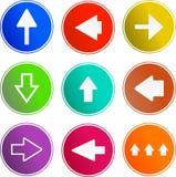 Iconos de la muestra de la flecha Fotos de archivo