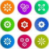 Iconos de la muestra de la flor libre illustration