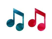 Iconos de la muestra de la nota musical Fotografía de archivo libre de regalías