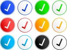 Iconos de la muestra de la señal Imagenes de archivo