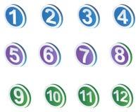 Iconos de la muestra de número libre illustration