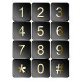 Iconos de la muestra de número Fotografía de archivo libre de regalías