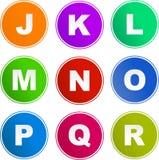 Iconos de la muestra del alfabeto Imágenes de archivo libres de regalías