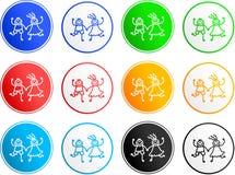 Iconos de la muestra del cabrito ilustración del vector