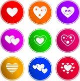 Iconos de la muestra del corazón ilustración del vector