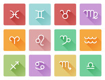 Iconos de la muestra del horóscopo del zodiaco Fotografía de archivo libre de regalías