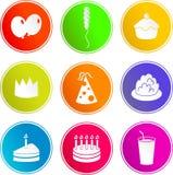Iconos de la muestra del partido Foto de archivo libre de regalías