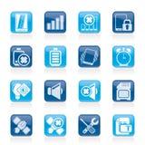 Iconos de la muestra del teléfono móvil Imagenes de archivo