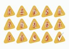 Iconos de la muestra del zodiaco stock de ilustración