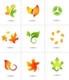 Iconos de la naturaleza Fotos de archivo libres de regalías