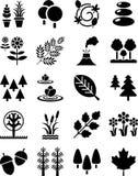 Iconos de la naturaleza Imágenes de archivo libres de regalías