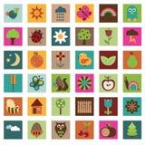 Iconos de la naturaleza Fotografía de archivo libre de regalías
