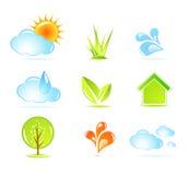 Iconos de la naturaleza ilustración del vector