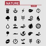Iconos de la naturaleza fijados ilustración del vector