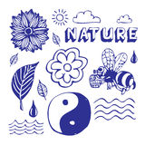 Iconos de la naturaleza fijados Imagen de archivo