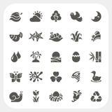 Iconos de la naturaleza fijados Foto de archivo