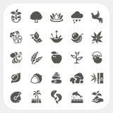 Iconos de la naturaleza fijados Imagen de archivo libre de regalías