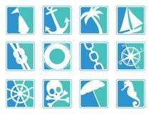 Iconos de la navegación stock de ilustración