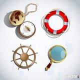 iconos de la navegación 3D Imagen de archivo