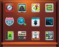 Iconos de la navegación del GPS