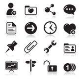 Iconos de la navegación del Web site fijados Imágenes de archivo libres de regalías