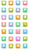 Iconos de la navegación fijados Foto de archivo