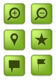 Iconos de la navegación Foto de archivo libre de regalías
