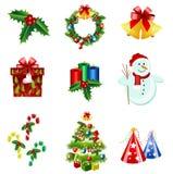 Iconos de la Navidad Imagen de archivo libre de regalías