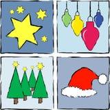 Iconos de la Navidad Foto de archivo libre de regalías