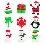 Iconos de la Navidad Imagen de archivo