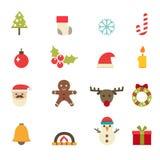 Iconos de la Navidad Imagenes de archivo