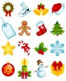 Iconos de la Navidad Fotos de archivo libres de regalías
