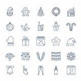 Iconos de la Navidad Foto de archivo