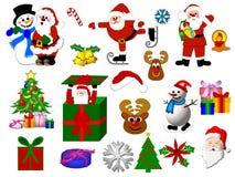 Iconos de la Navidad libre illustration