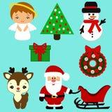Iconos de la Navidad colección Foto de archivo libre de regalías