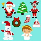 Iconos de la Navidad colección Imagenes de archivo