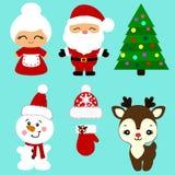 Iconos de la Navidad colección Fotos de archivo libres de regalías
