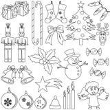 Iconos de la Navidad del colorante Foto de archivo libre de regalías