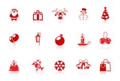 Iconos de la Navidad | Serie de flautín Fotos de archivo libres de regalías