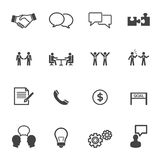 Iconos de la negociación Fotos de archivo