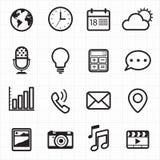Iconos de la notificación y del web Imágenes de archivo libres de regalías