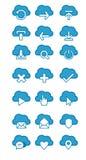Iconos de la nube Ilustración del Vector
