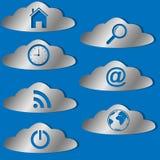 Iconos de la nube fijados Imagen de archivo