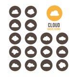 Iconos de la nube Ilustración del vector Fotos de archivo libres de regalías